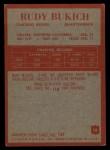 1965 Philadelphia #18   Rudy Bukich  Back Thumbnail