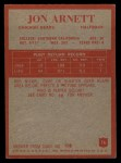 1965 Philadelphia #16   Jon Arnett  Back Thumbnail