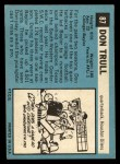 1964 Topps Beatles Black and White #87   George Harrison Back Thumbnail