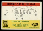 1964 Philadelphia #42   -  Blanton Collier  Cleveland Browns Front Thumbnail