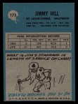 1964 Philadelphia #173  Jimmy Hill     Back Thumbnail