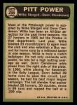 1967 Topps #266  Pitt Power  -  Willie Stargell / Donn Clendenon Back Thumbnail