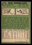 1967 Topps #306   Bud Harrelson Back Thumbnail