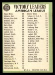 1967 Topps #235   -  Jim Kaat / Denny McLain / Earl Wilson AL Pitching Leaders Back Thumbnail