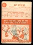 1963 Topps #15   Ray Renfro Back Thumbnail