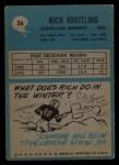 1964 Philadelphia #36  Rich Kreitling  Back Thumbnail