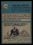 1964 Philadelphia #169   Garland Boyette  Back Thumbnail