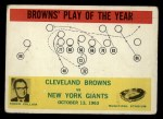 1964 Philadelphia #42  Cleveland Browns  -  Blanton Collier  Front Thumbnail