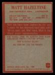1965 Philadelphia #175  Matt Hazeltine  Back Thumbnail