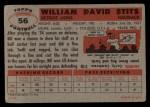 1956 Topps #56   Bill Stits Back Thumbnail