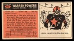 1965 Topps #147  Warren Powers  Back Thumbnail