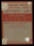 1965 Philadelphia #80   Elijah Pitts  Back Thumbnail