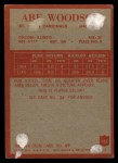 1965 Philadelphia #167   Abe Woodson Back Thumbnail