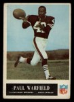 1965 Philadelphia #41  Paul Warfield  Front Thumbnail