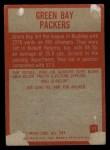 1965 Philadelphia #71   Green Bay Packers  Back Thumbnail