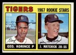 1967 Topps #72   Tigers Rookie Stars  -  George Korince / John Matchick Front Thumbnail