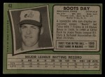 1971 Topps #42 COR  Boots Day Back Thumbnail