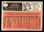 1966 Topps #16   Larry Brown Back Thumbnail