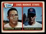 1965 Topps #549  Cubs Rookies  -  Glenn Beckert / Roberto Pena Front Thumbnail
