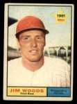 1961 Topps #59   Jim Woods Front Thumbnail
