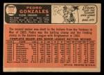 1966 Topps #266   Pedro Gonzalez Back Thumbnail