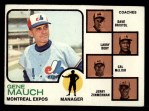 1973 Topps #377  Expos Field Leaders  -  Gene Mauch / Dave Bristol / Larry Doby / Cal McLish / Jerry Zimmrman Front Thumbnail