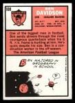1966 Topps #108   Ben Davidson Back Thumbnail