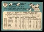 1965 Topps #242  George Brunet  Back Thumbnail