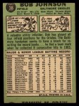 1967 Topps #38 COR  Bob Johnson Back Thumbnail