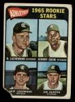 1965 Topps #526  Athletics Rookies  -  Catfish Hunter / Johnny Odom / Skip Lockwood / Rene Lachemann Front Thumbnail
