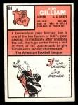 1966 Topps #68  John Gilliam  Back Thumbnail