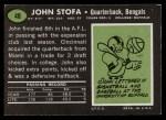 1969 Topps #48  John Stofa  Back Thumbnail