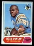 1968 Topps #167   Leslie Duncan Front Thumbnail