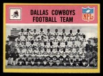 1967 Philadelphia #49   Dallas Cowboys Team Front Thumbnail