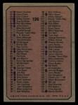 1975 Topps #126   Checklist 1 Back Thumbnail