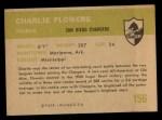 1961 Fleer #156   Charlie Flowers Back Thumbnail