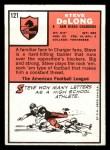 1966 Topps #121   Steve DeLong Back Thumbnail