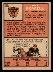 1966 Topps #116   Art Powell Back Thumbnail