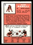 1966 Topps #12   Babe Parilli Back Thumbnail