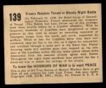 1938 Gum Inc. Horrors of War #139   Franco Retakes Teruel in Bloody Night Battle Back Thumbnail