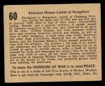 1938 Gum Inc. Horrors of War #60  American Homes Looted at Hangchow  Back Thumbnail