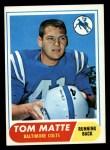 1968 Topps #178  Tom Matte  Front Thumbnail