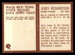 1967 Philadelphia #8  Jerry Richardson  Back Thumbnail