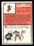 1966 Topps #39   Ray Kubala Back Thumbnail