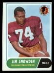 1968 Topps #212   Jim Snowden Front Thumbnail