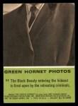 1966 Donruss Green Hornet #11   Black Beauty being fired upon Back Thumbnail