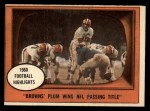 1961 Topps #132  1960 Football Highlights  -  Milt Plum Front Thumbnail