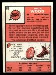1966 Topps #89   Dick Wood Back Thumbnail