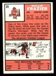 1966 Topps #55   Willie Frazier Back Thumbnail