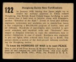 1938 Gum Inc. Horrors of War #122  Hongkong Builds New Fortifications  Back Thumbnail